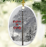 CHOICE OF FOUR: Utility Company Cooperative Christmas Tree Ornament